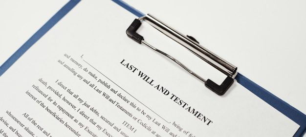 a copy of a will document